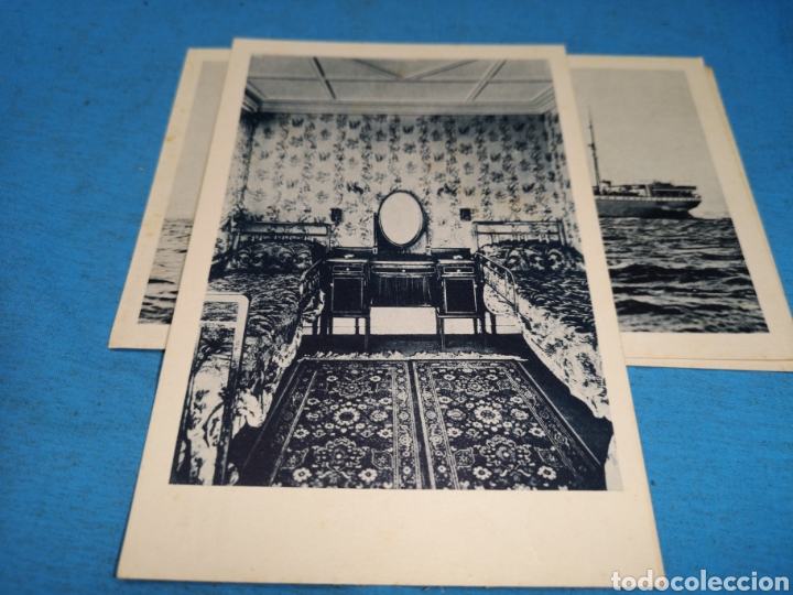 Postales: 12 fotografías-tarjeta postal, 1931, barco motónave Barcelona, y barco Vapor teide, comp. Transmedit - Foto 22 - 170305896