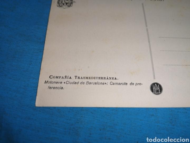 Postales: 12 fotografías-tarjeta postal, 1931, barco motónave Barcelona, y barco Vapor teide, comp. Transmedit - Foto 23 - 170305896