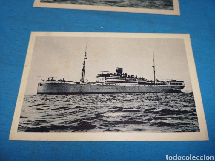 Postales: 12 fotografías-tarjeta postal, 1931, barco motónave Barcelona, y barco Vapor teide, comp. Transmedit - Foto 24 - 170305896