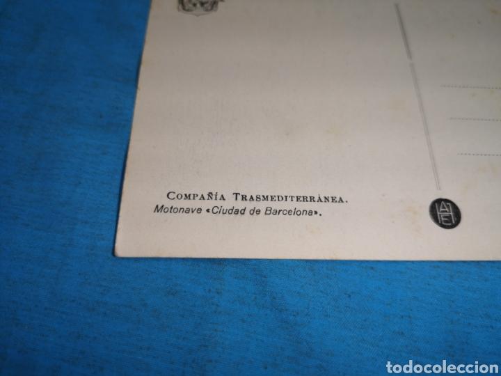 Postales: 12 fotografías-tarjeta postal, 1931, barco motónave Barcelona, y barco Vapor teide, comp. Transmedit - Foto 27 - 170305896