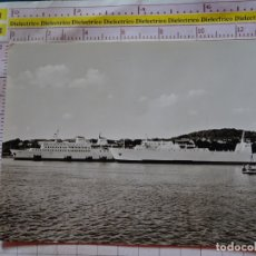 Postales: POSTAL DE BARCOS NAVIERAS. BARCO BUQUE MS SASSNITZ Y STUBBENKAMMER. RÜGEN ALEMANIA. 2400. Lote 170430584