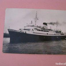 Postales: POSTAL FOTOGRAFICA DE BARCO. LA MALLE COTE D'AZUR. CIRCULADA 1952.. Lote 170440588