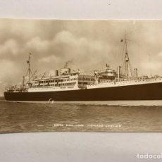 Postales: BARCOS. FOTOGRAFÍA POSTAL ANTIGUA. ROYAL MAIL LINES HIGHLAND CHIEFTAIN (A.1955) CIRCULADA. Lote 171376959