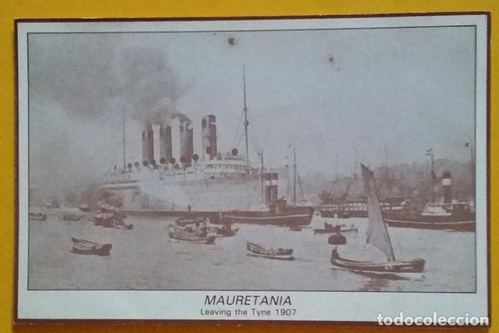 MAURETANIA. MARINE SERIES Nº. 10. MARINE ART POSTERS. CUNARD LINE LTD. (Postales - Postales Temáticas - Barcos)