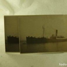 Postales: LOTE DE 2 POSTALES FOTOGRAFICAS BARCO PESCA ARANTZAZU PAIS VASCO ATUN BONITO. Lote 171890210