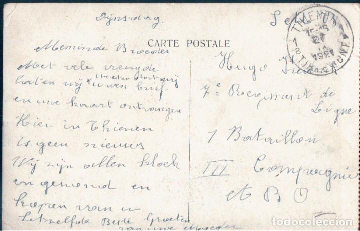 Postales: POSTAL BARCO - OSTENDE - SORTIE DE LA MALLE - BELGICA - CIRCULADA SIN SELLO - Foto 2 - 173006362