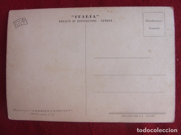 Postales: POSTAL M/N AMERIGO VESPUCCI - Foto 2 - 173514505