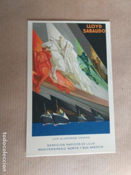 POSTAL LLOYD SABAUDO. LOS GLORIOSOS CONDES (Postales - Postales Temáticas - Barcos)