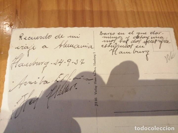 Postales: Postal circulada Alemania nazi de hamburgo - Foto 2 - 174488227