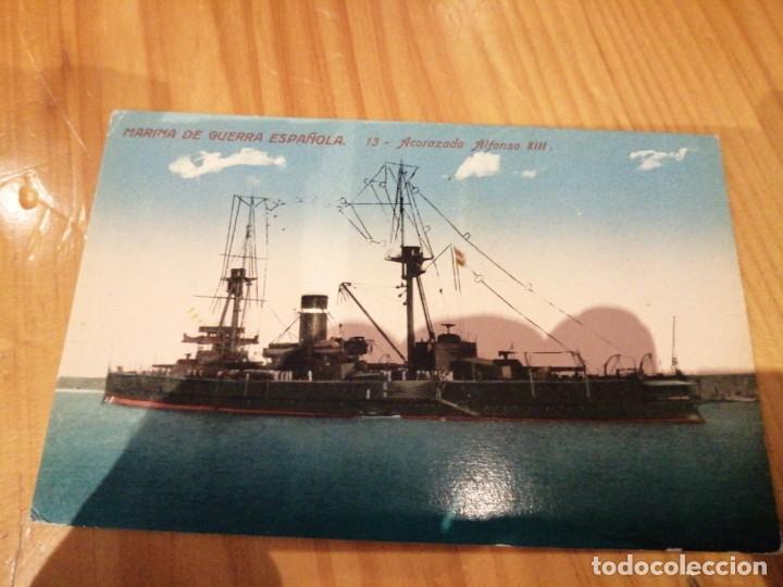 ACORAZADO ALFONSO XIII (Postales - Postales Temáticas - Barcos)
