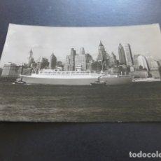 Postales: BARCO NIEUW AMSTERDAM LLEGADA A NUEVA YORK POSTAL. Lote 174880149