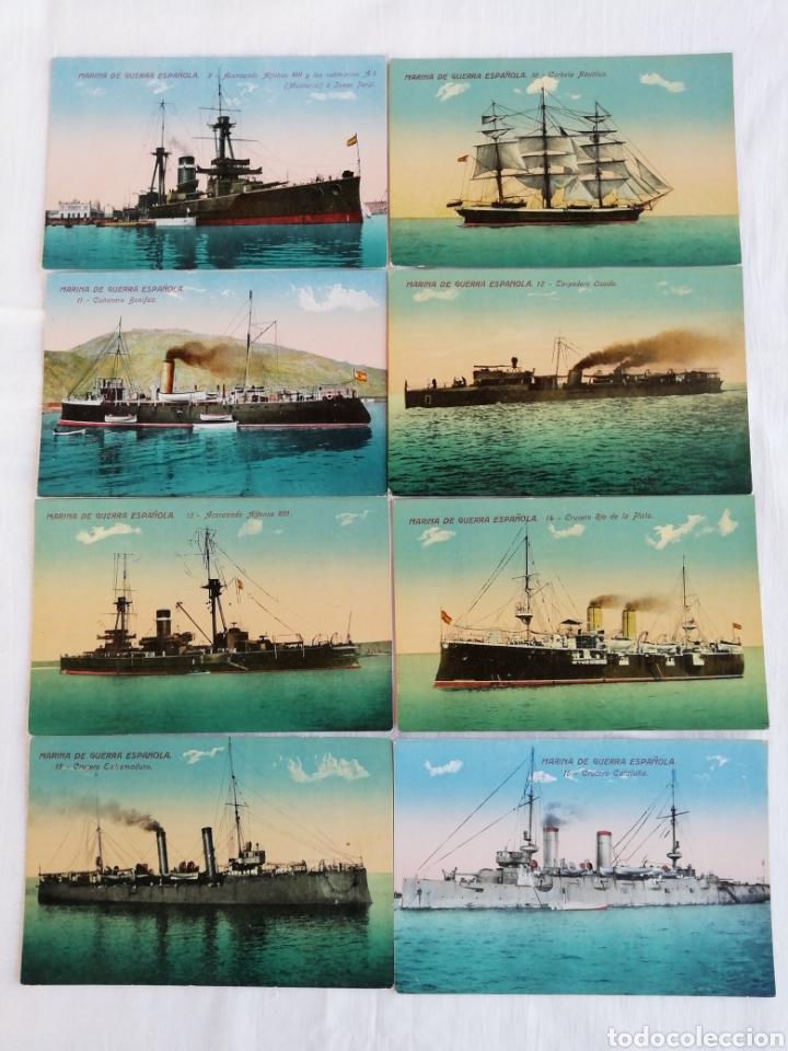 Postales: Colección de 20 postales Marina de guerra Española - Foto 3 - 175707803