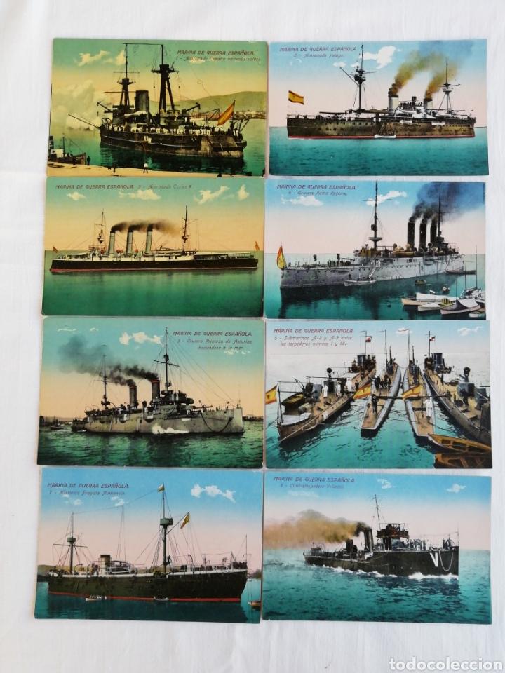 COLECCIÓN DE 20 POSTALES MARINA DE GUERRA ESPAÑOLA (Postales - Postales Temáticas - Barcos)