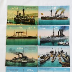 Postales: COLECCIÓN DE 20 POSTALES MARINA DE GUERRA ESPAÑOLA. Lote 175707803