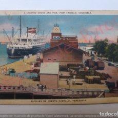 Postales: MUELLES DE PUERTO CABELLO. VENEZUELA. AÑO 1949. Lote 176261112