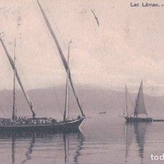 Postales: POSTAL BARCO - LAC LEMAN - BARQUES - CIRCULADA - N 185 MUSY FRERES & CO. Lote 176884720