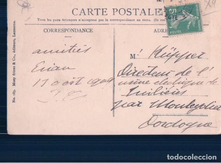 Postales: POSTAL BARCO - LAC LEMAN - BARQUES - CIRCULADA - N 185 MUSY FRERES & CO - Foto 2 - 176884720