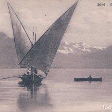 Postales: POSTAL BARCO DE VELA - BARQUE DU LEMAN 3614 PHOTOTYPIE CO NEUCHATEL - CIRCULADA. Lote 176885005