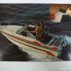 Postales: POSTAL. BARCO. LANCHA. RIO 500 ONDA. CON PUBLICIDAD EN EL DORSO. . Lote 176906504