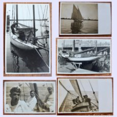 Postales: 5 ANTIGUAS CURIOSAS POSTALES DEL BARCO -STELLA MARIS- EN BARCELONA. Lote 177575983