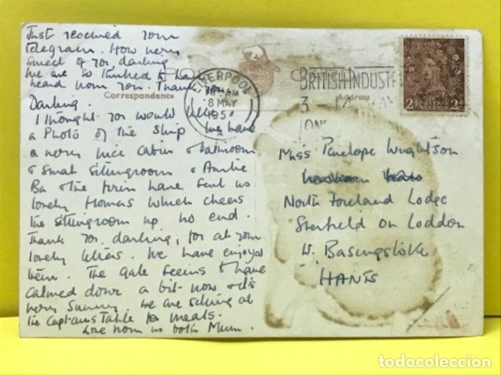 Postales: Barco vapor foto postal canadian pacific ed inglesa empress of scotland circuladas sello - Foto 2 - 178087329
