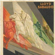 Postales: == PH1004 - POSTAL LLOYD SABAUDO MEDITERRÁNEO-NORTE Y SUD AMERICA. 1929. IMPRESO EN ITALIA.. Lote 178114867