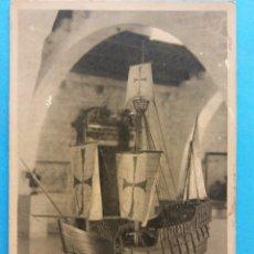 Postales: MUSEO MARÍTIMO REALES ATARAZANAS - BARCELONA. CARABELA SANTA MARÍA, SIGLO XV. NUEVA. Lote 178674500