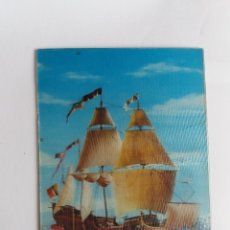 Postales: TARJETA POSTAL - STEREO 3D ESTEREOSCÓPICAS - BARCOS Nº R-185 - EN RELIEVE - ESCUDO DE ORO . Lote 178857827