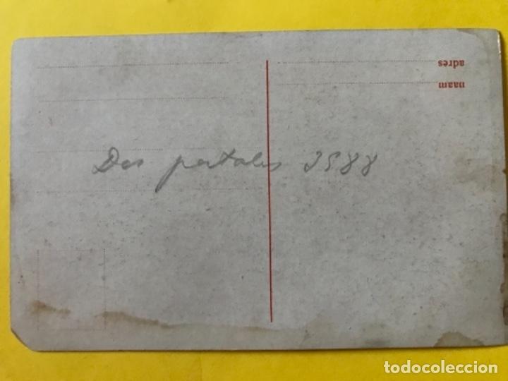 Postales: Antigua postal holanda holland dibujo molino catedral rio barco postal azul paises bajos - Foto 3 - 179006441