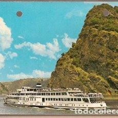 Postales: ALEMANIA & CIRCULADO,M.S LORELEY EN EL RIN, BAD BERTRICH 1969 (131). Lote 179053510