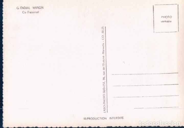 Postales: BARCO, PAQUEBOT - GENERAL MANGIN - LINEAS DE LA COSTA OCCIDENTAL DE AFRICA - Foto 2 - 179099526