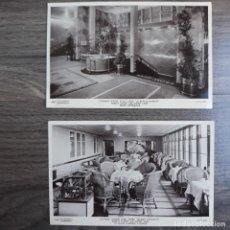 Postales: PAREJA DE POSTALES INTERIORES DEL BUQUE QUEEN ELIZABETH. HOFFMANN. Lote 179206857