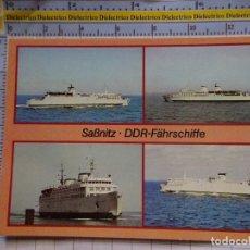 Postales: POSTAL DE BARCOS NAVIERAS. BARCO BUQUE FERRY DDR ALEMANIA SASSNITZ. 444. Lote 180038715