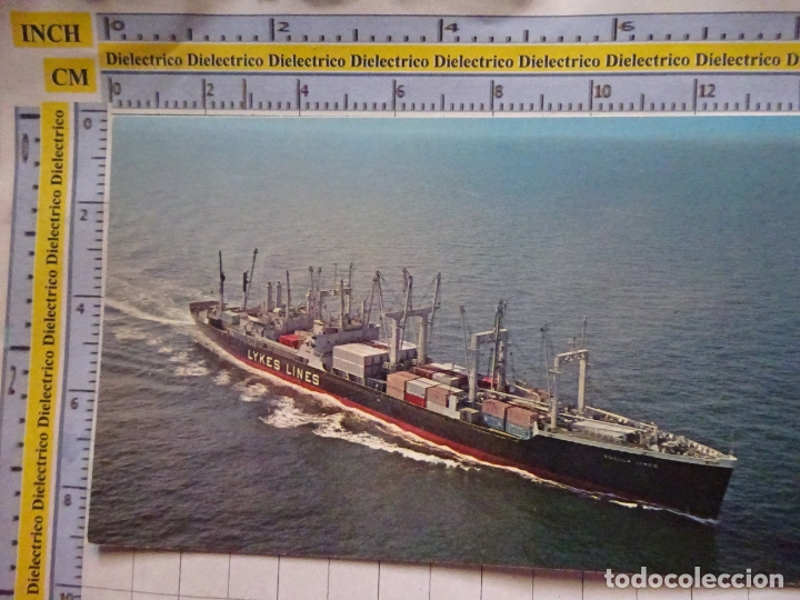 POSTAL DE BARCOS NAVIERAS. BARCO BUQUE PORTACONTENEDORES LYKES LINES SS ZOELLA. 460 (Postales - Postales Temáticas - Barcos)