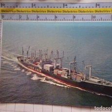 Postales: POSTAL DE BARCOS NAVIERAS. BARCO BUQUE PORTACONTENEDORES LYKES LINES SS ZOELLA. 460. Lote 180039530