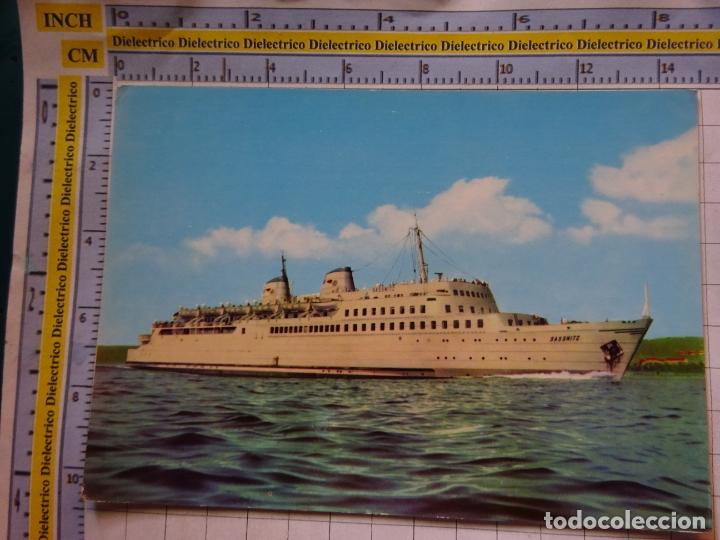 POSTAL DE BARCOS NAVIERAS. BARCO BUQUE MS SASSNITZ ALEMANIA. 461 (Postales - Postales Temáticas - Barcos)