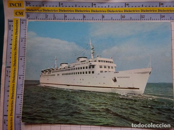 POSTAL DE BARCOS NAVIERAS. BARCO BUQUE MS WARNEMÜNDE ALEMANIA. 462 (Postales - Postales Temáticas - Barcos)