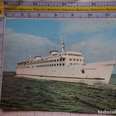 Postales: POSTAL DE BARCOS NAVIERAS. BARCO BUQUE MS WARNEMÜNDE ALEMANIA. 462. Lote 180039725