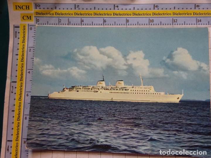 POSTAL DE BARCOS NAVIERAS. BARCO BUQUE MS SASSNITZ ALEMANIA. 467 (Postales - Postales Temáticas - Barcos)