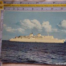 Postales: POSTAL DE BARCOS NAVIERAS. BARCO BUQUE MS SASSNITZ ALEMANIA. 467. Lote 180039968
