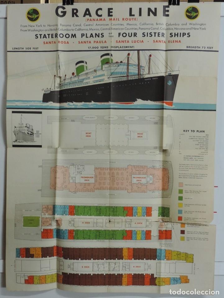 Postales: Publicidad del barco Santa, Advertisement, The new fleet of Santa ships, ca. 1930. Published by Grac - Foto 2 - 180084985