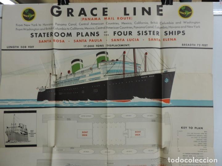 Postales: Publicidad del barco Santa, Advertisement, The new fleet of Santa ships, ca. 1930. Published by Grac - Foto 3 - 180084985