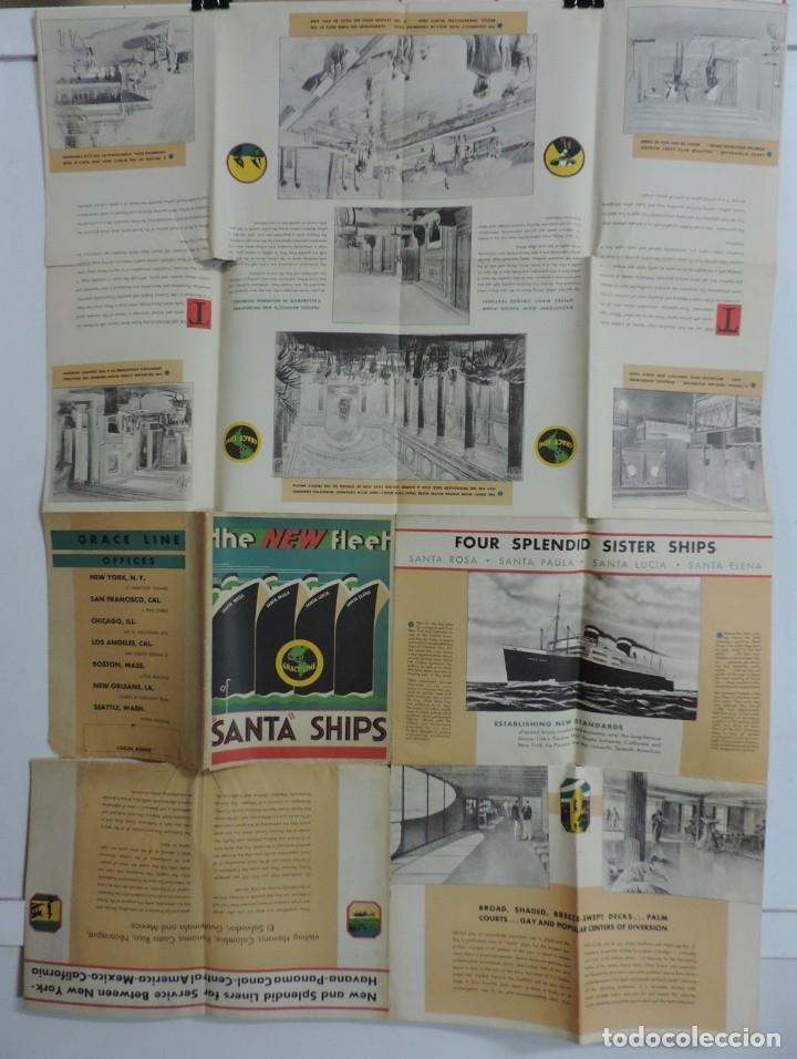 Postales: Publicidad del barco Santa, Advertisement, The new fleet of Santa ships, ca. 1930. Published by Grac - Foto 5 - 180084985