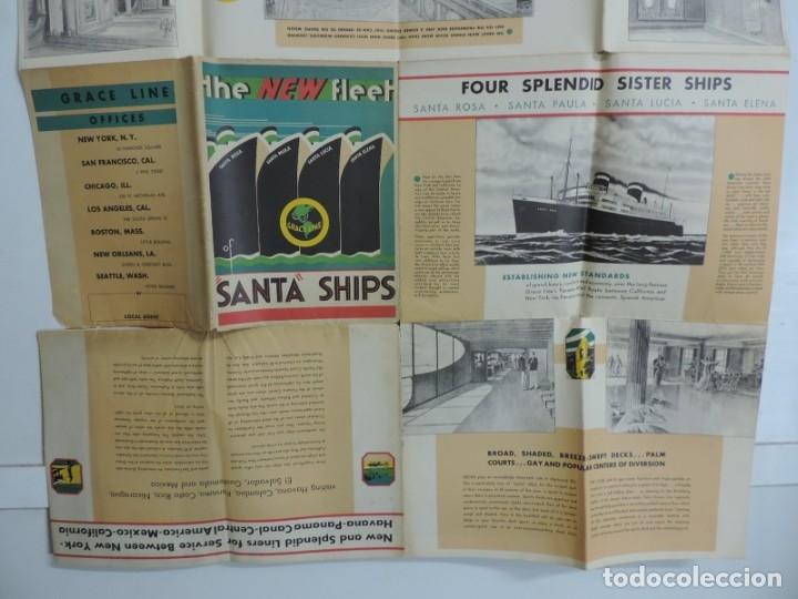 Postales: Publicidad del barco Santa, Advertisement, The new fleet of Santa ships, ca. 1930. Published by Grac - Foto 6 - 180084985