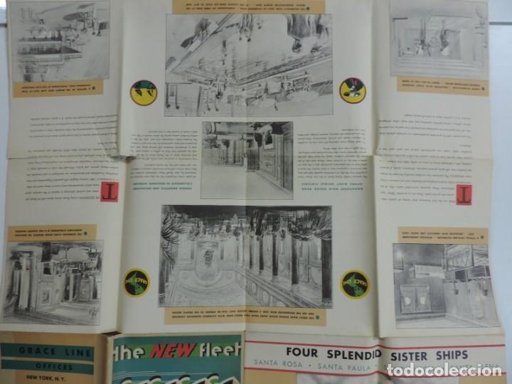 Postales: Publicidad del barco Santa, Advertisement, The new fleet of Santa ships, ca. 1930. Published by Grac - Foto 7 - 180084985