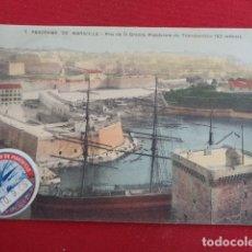 Postales: MARSEILLE. FRANCIA. VIÑETA SOUVENIR DU TRANSBORDEUR. SEPTIEMBRE 1908. TARJETA POSTAL SIN USO.. Lote 180099671