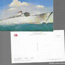 Postales: POSTAL * BARCO M/N DONIZETTI- ROSSINI- VERDI * S.N. ITALIA *. Lote 181576051