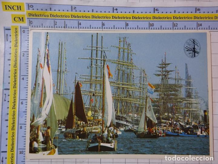 POSTAL DE BARCOS NAVIERAS. REGATAS DE VELEROS. AMSTERDAM. 2548 (Postales - Postales Temáticas - Barcos)