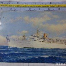 Postales: POSTAL DE BARCOS NAVIERAS. BARCO BUQUE SS CASTEL FELICE ITALIA. 2568. Lote 181627473