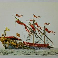 Postales: POSTAL HISTORIA DEL MAR, GALERA REAL DE FRANCIA, SIGLO XIV Nº 6. Lote 182293010